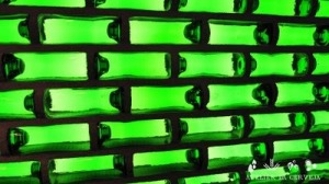 Heineken WOBO bottle wall